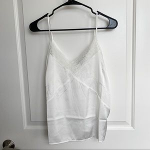 Forever 21 Satin Cami Lace Top